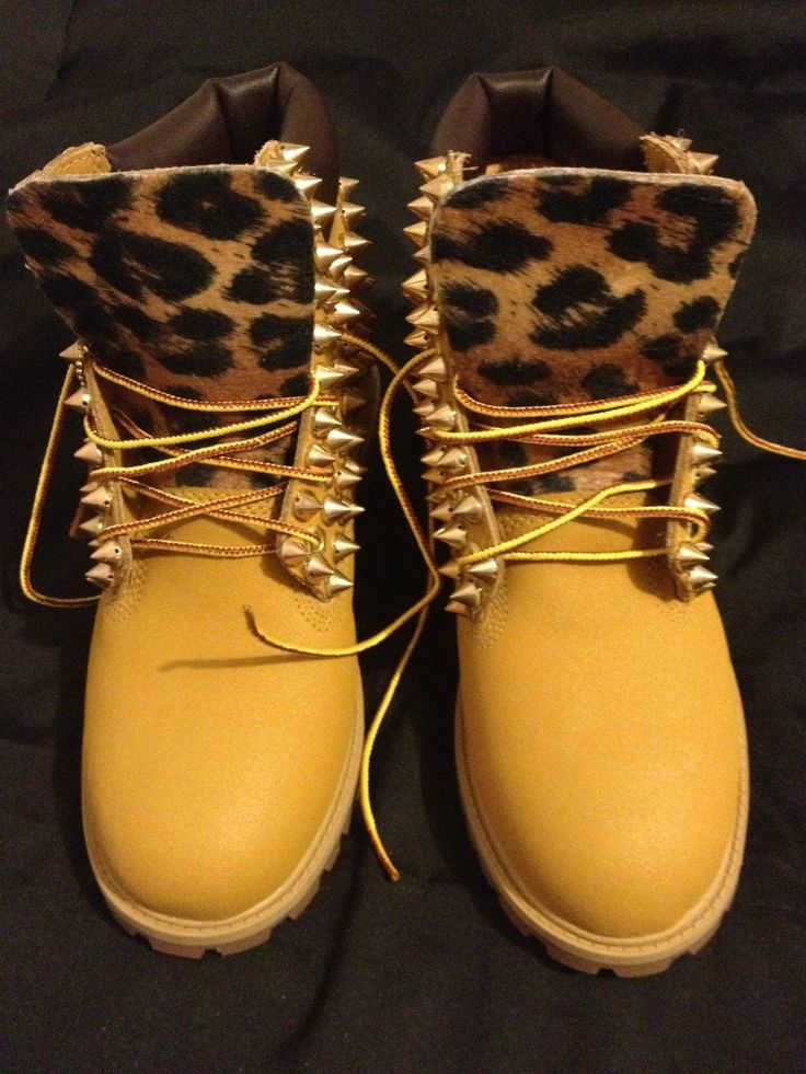 Spiked & Leopard Timberlands. I need these!