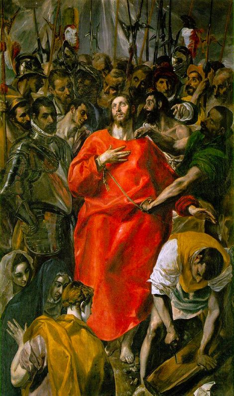 El Greco, Doménikos Theotokópoulos, The Disrobing of Christ 1583-1584 | Oil on canvas | 1650 x 990 mm on ArtStack #el-greco-domenikos-theotokopoulos #art