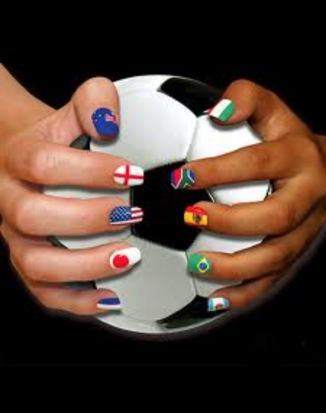 11 best soccer nails images on pinterest nail designs beautiful unfolding 25 fifa world cup 2014 brazil nails art designs ideas trends stickers and flag nails make flags of your country your countrys initials prinsesfo Gallery