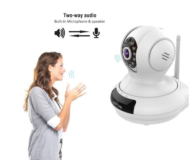 Nanny Cam Motion Activated Wifi 2 Way Audio Wifi Wireless Camera