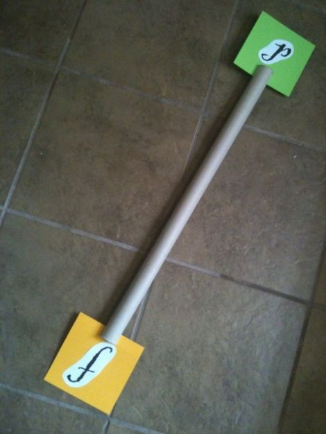 Music dynamics stick idea - student helper holds and flips the stick to control the volume the students are singing = reinforcing dynamics