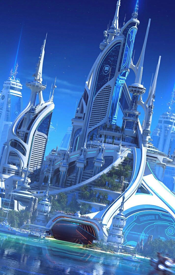 Futuristic towers   Imagineering Utopia in 2019 ...