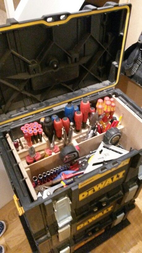 Dewalt tough system tool box                                                                                                                                                                                 More