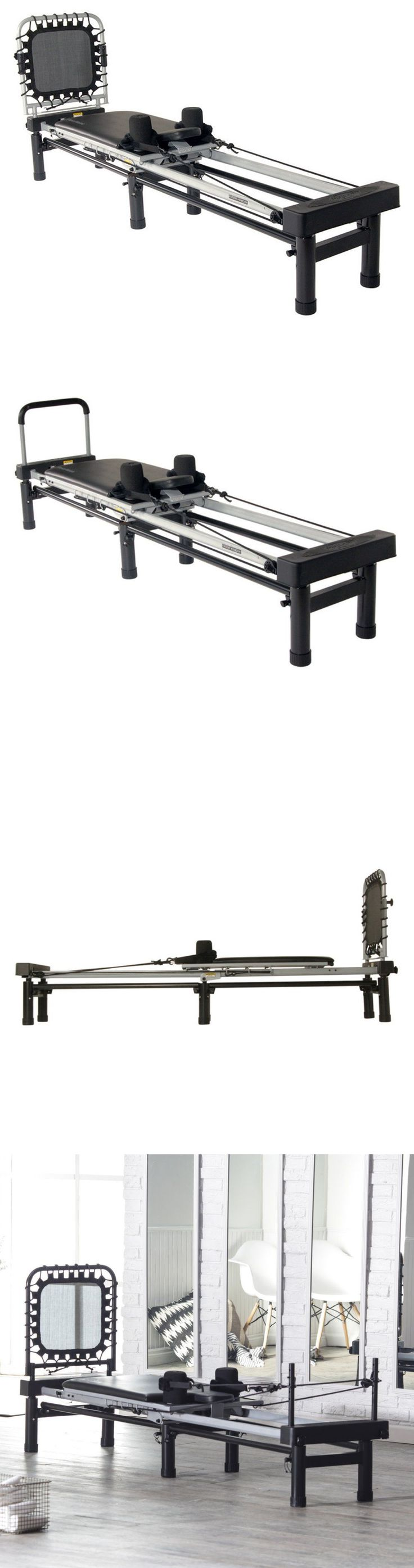 Pilates Tables 179807: Reformer Pilates Exercise With Cardio Rebounder Sturdy Steel Portable Stand BUY IT NOW ONLY: $523.97