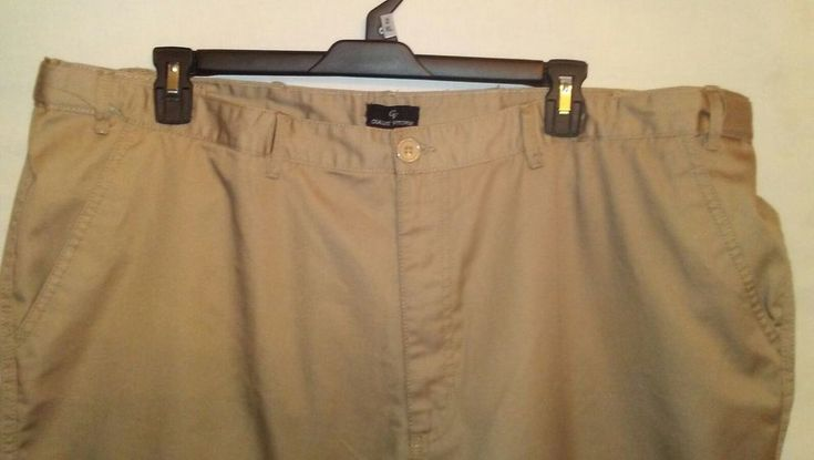 EUC Mens Size 46 X 30 Dark Khaki Pants Gianni Vitorio #Gianni #KhakisChinos