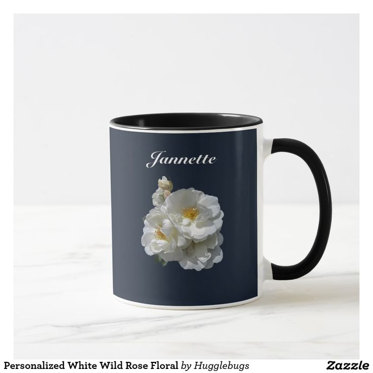 Personalized White Wild Rose Floral