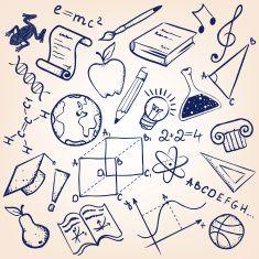 School and education wallpaper vector art illustration