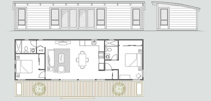 Maxwell 16x50 2bd 2ba 92k cabin in the woods for 16x50 house plans