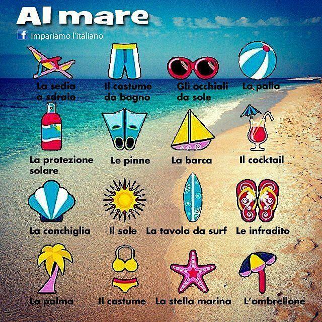 @Regrann from @impariamoitaliano -  Al mare  #vocabolario #learningitalian…