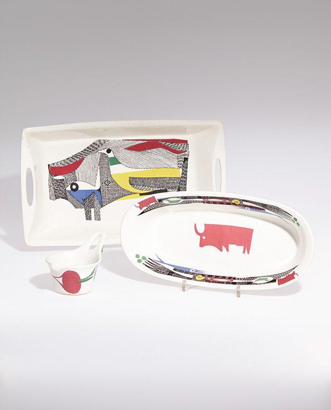 Hermann Bongard; Glazed Ceramic  'A La Carte' Serviceware, 1959.