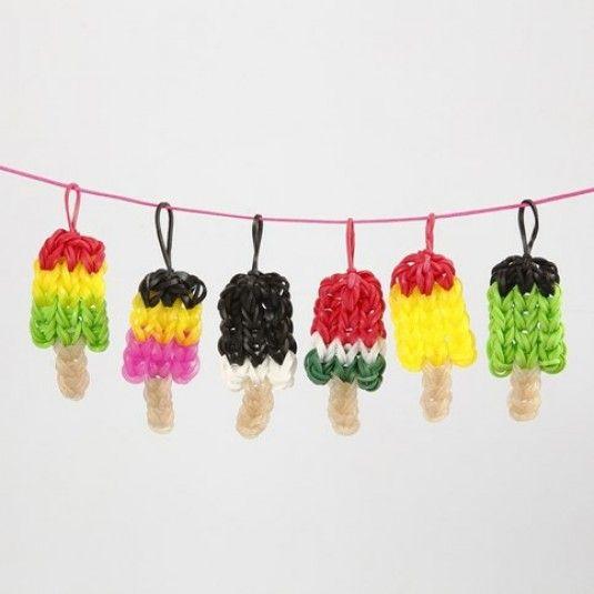 Små glassar av Rainbow Loom Bands