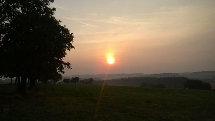 sunrise over Pelhrimov