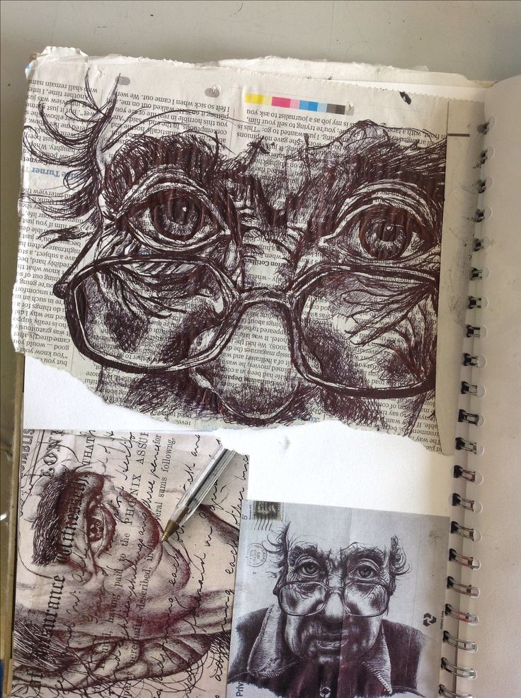 beautiful pen studies: see how the use of different grounds can add to the 'story' or feel of a work.