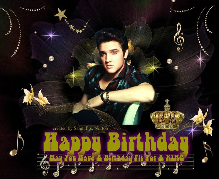 elvis presley birthday   ... just added to it and made a birthday card out of it…
