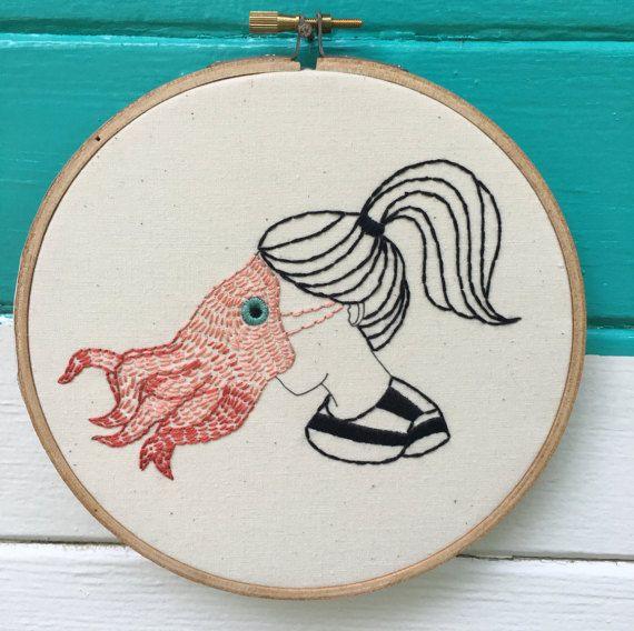 Beginner Embroidery Kit, Complete Beginner Kit, SquidGirl Kit