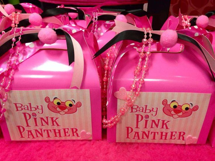 1st Birthday w/Baby Pink Panther | CatchMyParty.com