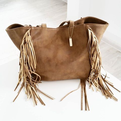 BAG FRINGE  BEIGE I MONASHE.PL - Sklep online z modna odzieza.