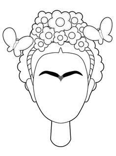 Frida self portrait- would be cute for BK to complete after reading story