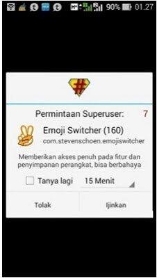 Cara memasang Emoji Iphone di Android menggunakan Emoji Switcher