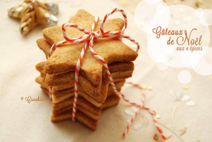 Des biscuits sablés aux épices pour Noël - Recette à consulter ici : http://crookies.fr/des-biscuits-sables-aux-epices-pour-noel/
