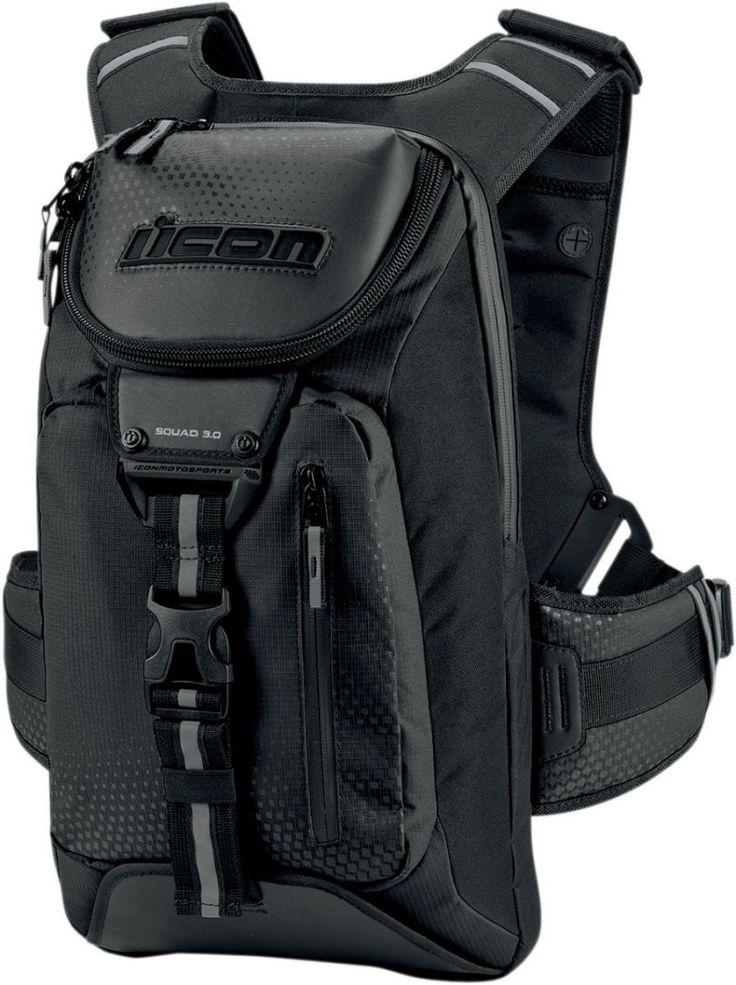 Icon Squad 3 Backpack Whether you ride every day, all times of the day, grind out hundreds of miles at a time, or just need to carry some extra stuff on your daily ride, Icon Squad 3 Backpack is desig