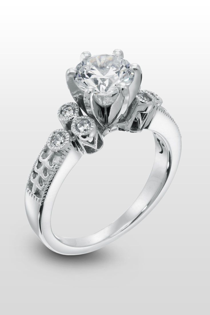 Westminster Abbey  An Intricate Engagement Ring With Incredible Details  Beautiful From Every Angle,