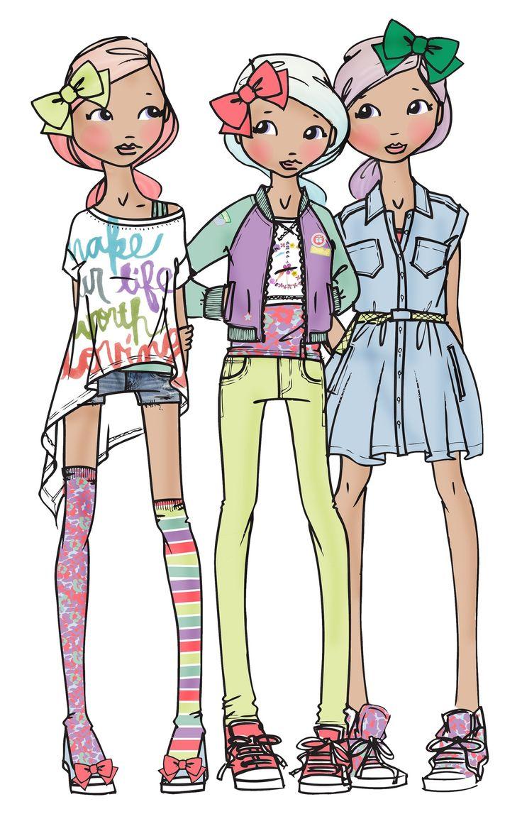 Рисунок модные дети, классе тема