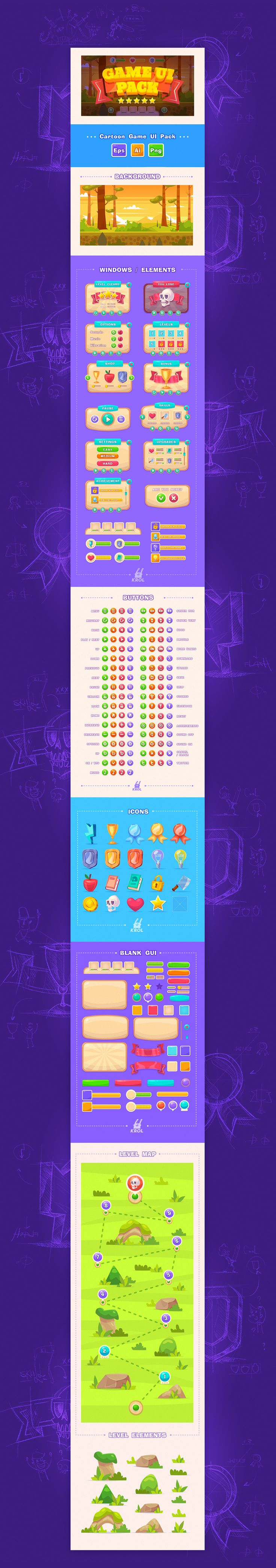 Game UI Pack on Behance