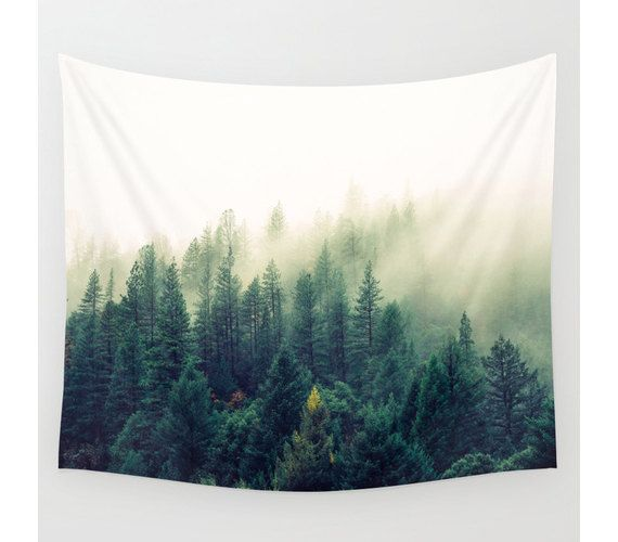Wall Tapestry Tree Tapestry Wall Hanging Mountain by StayWildCo