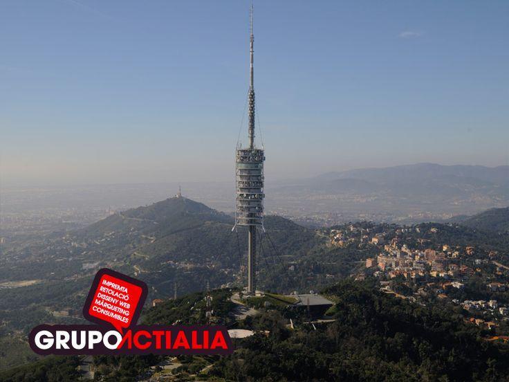 Barcelona. Torre de Collserola. Grupo Actialia ofrece sus servicios en Barcelona: Diseño web, Diseño gráfico, Imprenta y Rotulación. www.grupoactialia.com