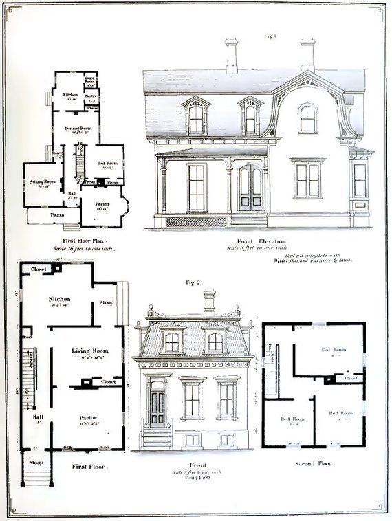 Victorian Architectural Plans 55 Elevations And Plans For Etsy In 2020 Architecture Plan Villa Residences How To Plan