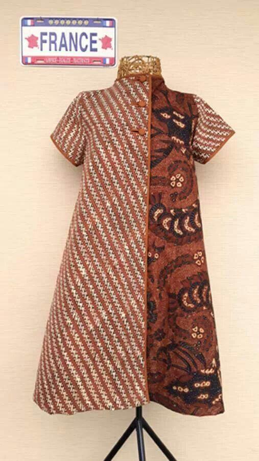 Dress batik tulis solo