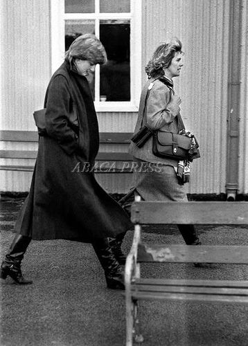Ludlow Race Course ~ Lady Diana & Camilla Parker Bowles in 1980. Prince Charles was competing in the horse race.
