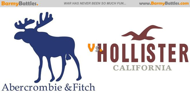 Abercrombie and Fitch vs Hollister which one is better. Abercrombie and Fitch or Hollister? #abercrombie #abercrombieandfitch #hollister #clothes #brand #tee #wear CLICK HERE TO VOTE: http://www.barmybattles.com/2014/04/03/abercrombie-and-fitch-vs-hollister/