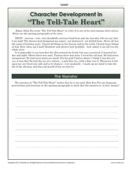 the tell tale heart antagonist and protagonist How the antagonist affects character arc two ways the antagonist ties together plot equally important is the antagonist's affect on your protagonist's.