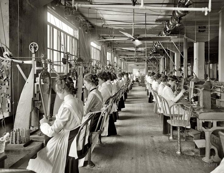 "Woman Assembly Dayton, Ohio, circa 1902. ""Lock and drill department, National Cash Register."" From Shorpy."