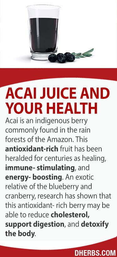 Acai is an indigenous berry commonly found in the rain forests of the Amazon. This antioxidant-rich fruit has been heralded for centuries as healing, immune-stimulating, and energy-booster. An exotic relative of the blueberry and cranberry, research has shown that this antioxidant-rich berry may be able to reduce cholesterol, support digestion, and detoxify the body.