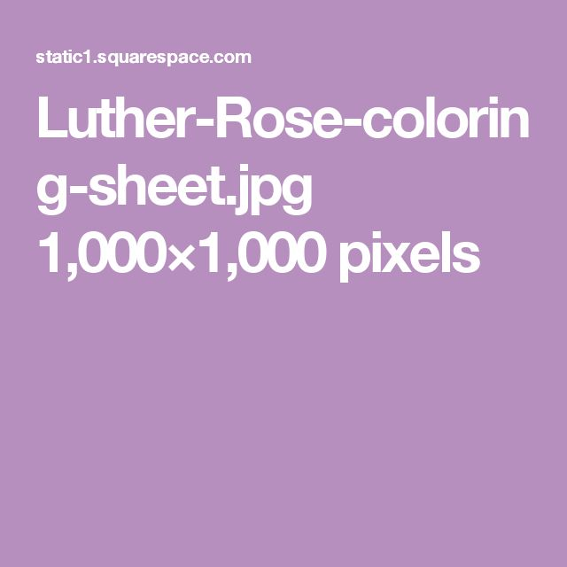 Luther-Rose-coloring-sheet.jpg 1,000×1,000 pixels