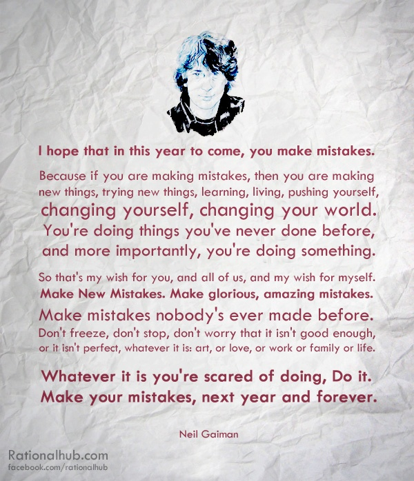 Mistakes Neil Gaiman Quotes. QuotesGram