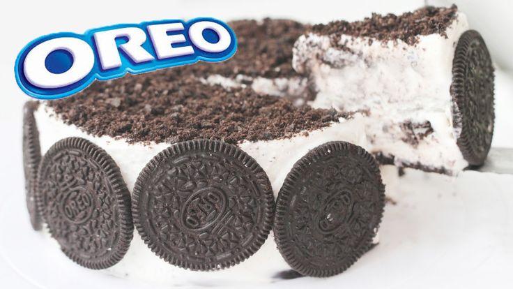 OREO CAKE ICE CREAM Recipe Eggless Cookies & Cream 오레오 ...
