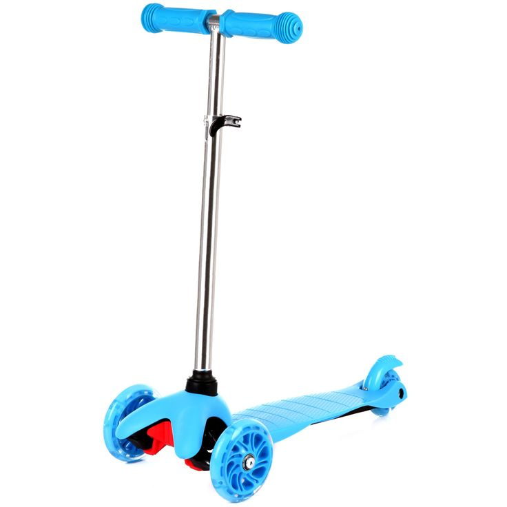 Zoomy Leisure Mini scooter with flashing wheels and adjustable handlebars. Perfect for kids from 2 to 5