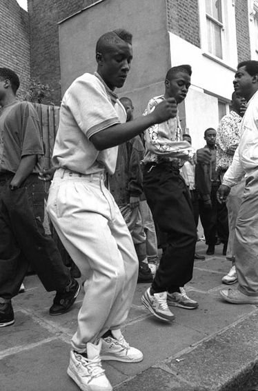 Tavistock Crescent London 1990   Notting Hill Carnival  Giles Moberley