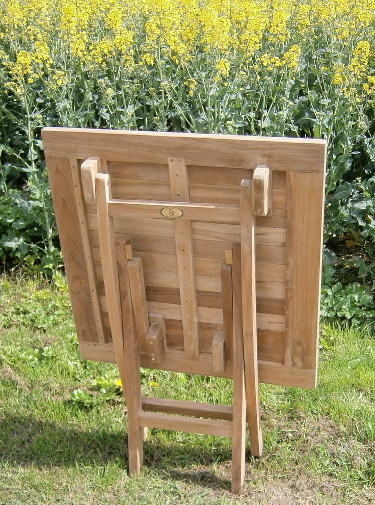 Chairs and Tables UK - Teak Garden Furniture - Folding Square Teakwood Table  70cm, £