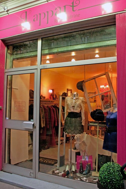 L'appart By Cendrine - a room for consignment, a room for young designers, and a room for tea!