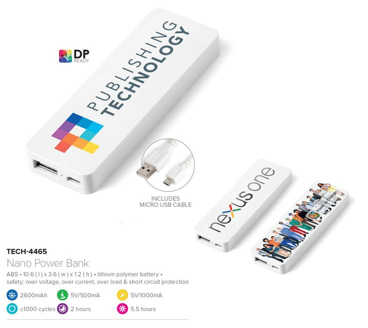 This unique portable charger for smartphones is a great way to stay connected. Get your branded promotional gifts now.