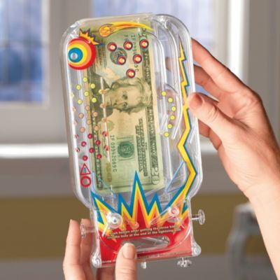 Put a gift of money, a gift card, or even a pair of concert tickets in this clever money holder...they'll have to win the game to get their prize!: Bilz Pinball, Gift Ideas, Clever Gifts, Holder Game, Money Holders, Christmas Gift, Money Holder They Ll, Pinball Money