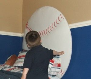 DIY baseball headboard...will do this for my little guy!
