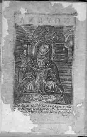 La primera imagen impresa de la Virgen de la Altagracia en 1800