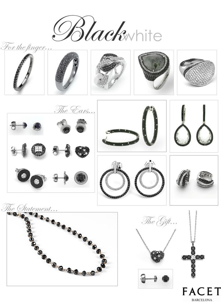 Black and White with Diamonds all over!  FACET Barcelona