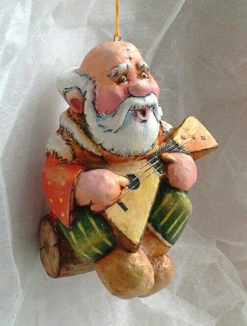 Елочная игрушка из папье-маше